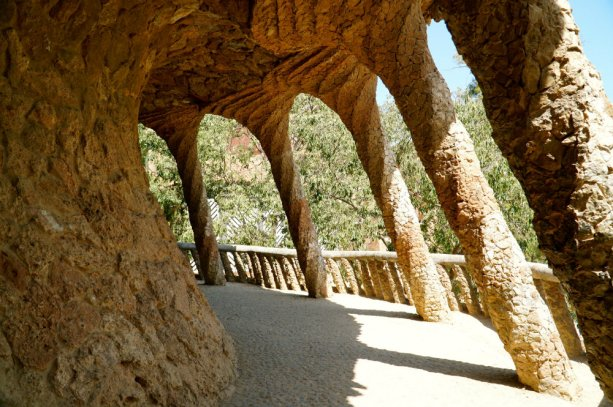 Exploring Park Guell by Gaudi in Barcelona.