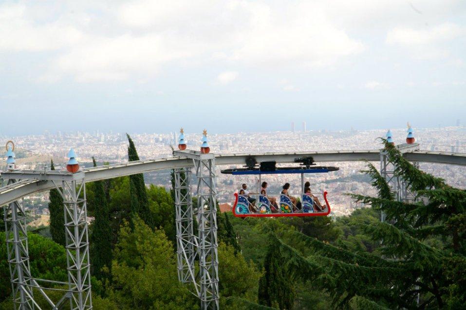 Best of Barcelona with kids at Tibidabo amusement park.