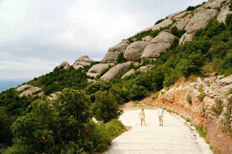 The girls hiking in Montserrat, Spain.