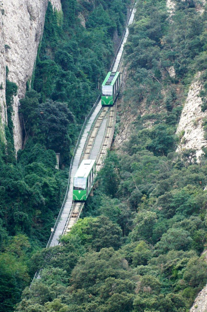 Furnicular ride in Montserrat
