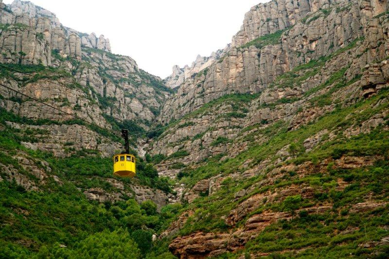 Tram ride in Montserrat