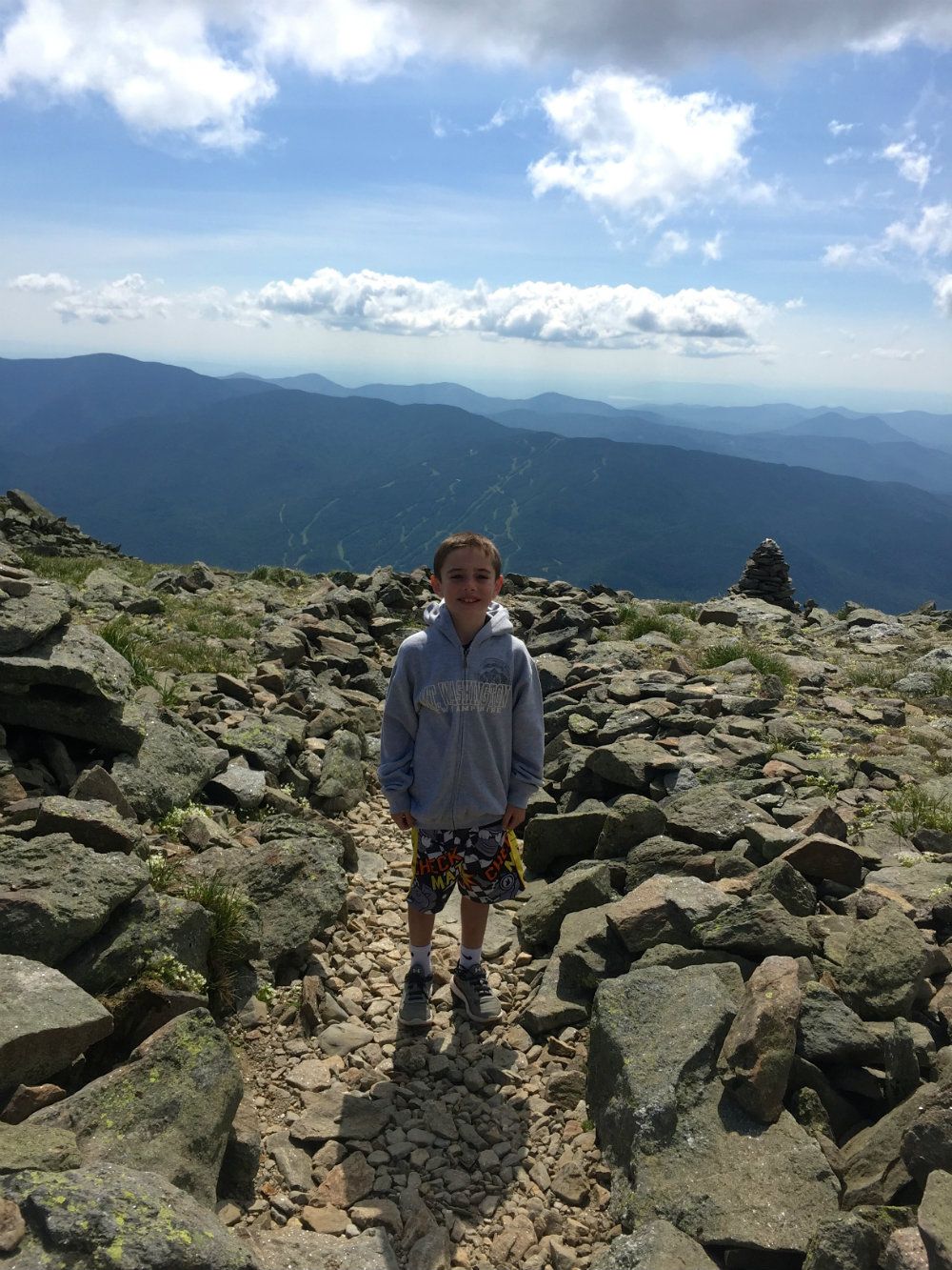 Hinking Mount Washington in New Hampshire.