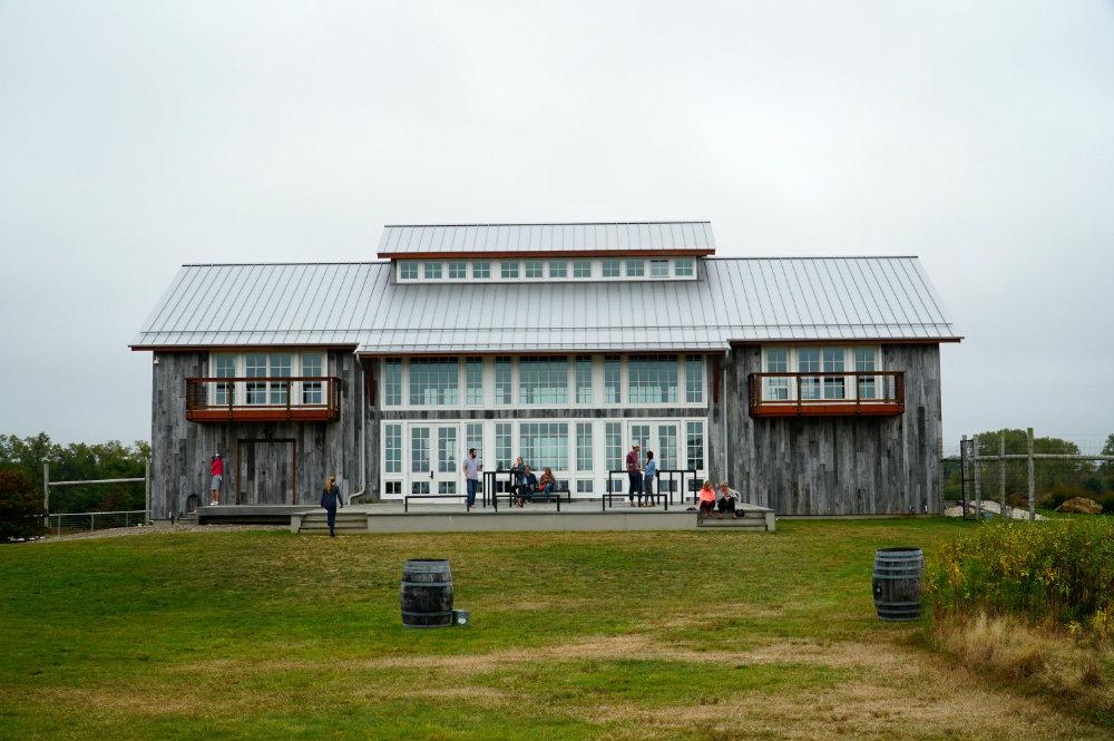 Kontokosta wine vineyard in the North Fork, Long Island