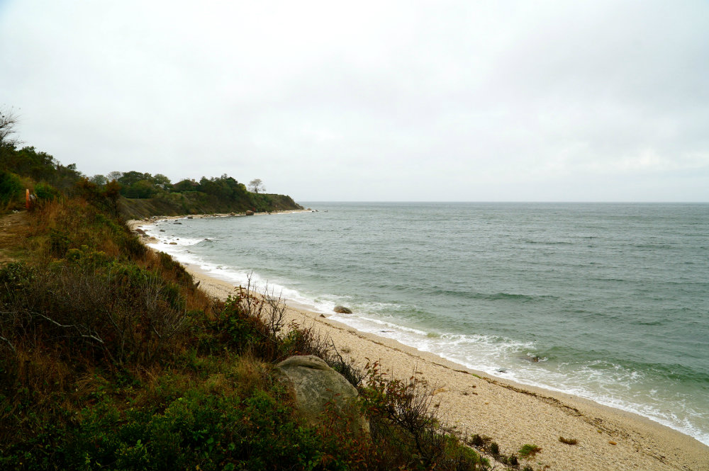 View of the Long Island Sound from Kontokoska winery in North Fork, Long Island.