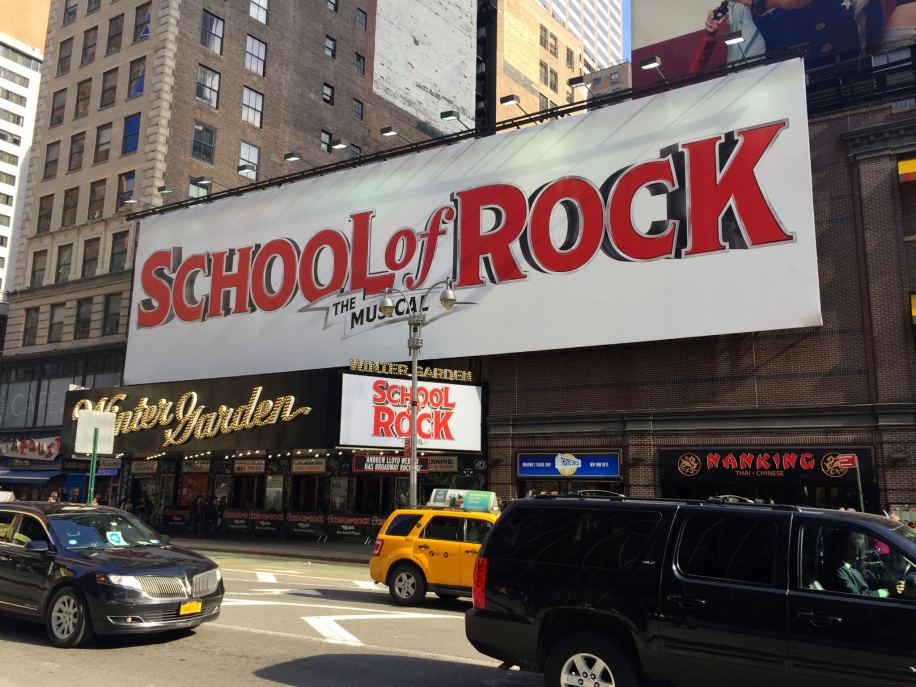 School of Rock on Broadway for 24 hours in New York City travel fix