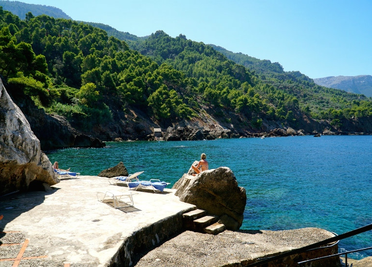 Exploring Mallorca's magical coves on our trip to Deia.