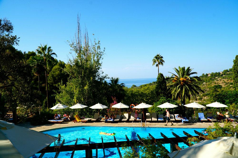 Pool at Es Moli Hotel in Deia in Mallorca