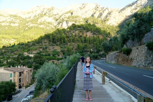 Walking around the mountain village of Deia in Mallorca