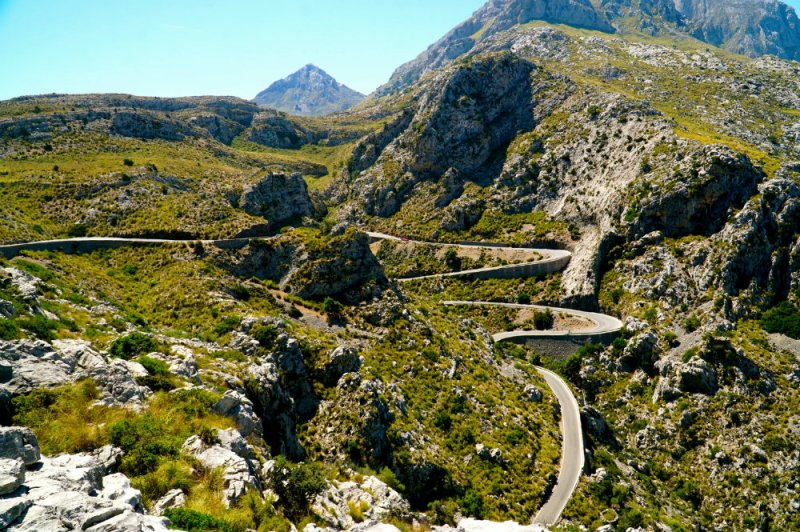 The road to Sa Calobra in Mallorca.