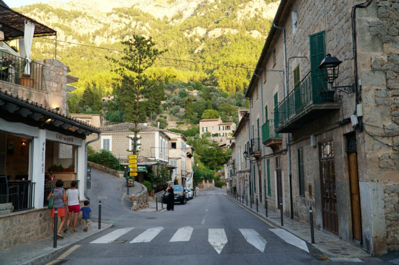 Walking in the mountain town of Deia in Western Mallorca.