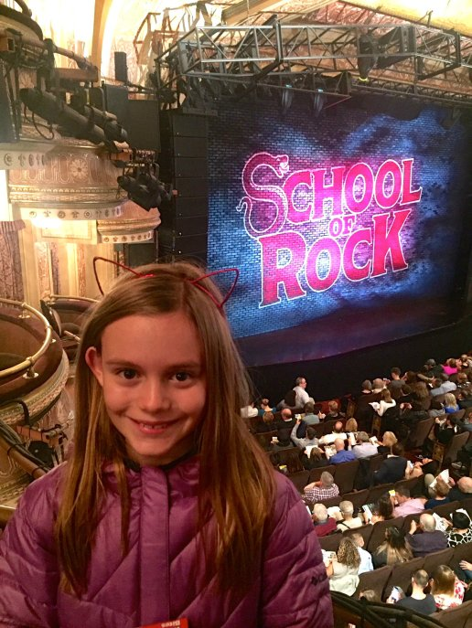 School of Rock on Broadway for our 24 hours in New York City travel fix