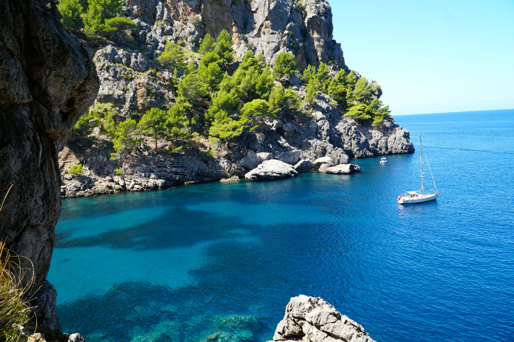 Cove exploring in Western Mallorca
