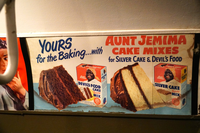 Aunt Jemima advertisement on the holiday nostalgia train in New York City