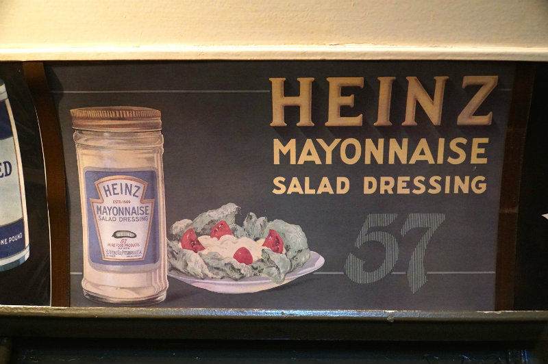 Heinz mayonnaise ad on the holiday nostalgia train in NYC