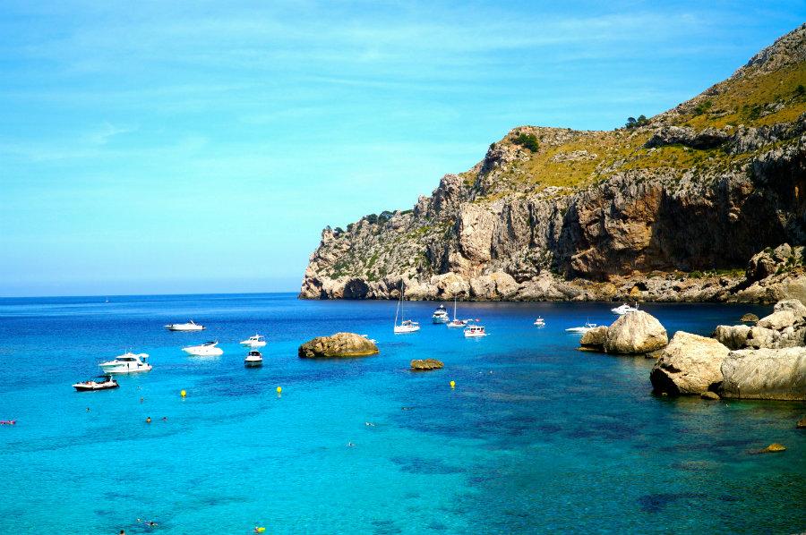 Cala Figuera beach on Cap de Formentor in mallorca
