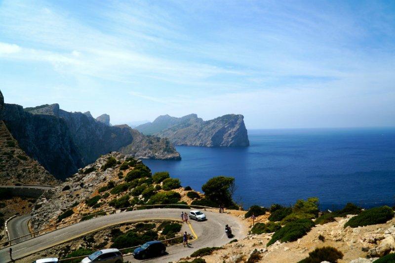 Drive to Cap de Formentor in Mallorca