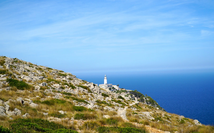 The drive to the lighthouse on Cap de Formentor in Mallorca.