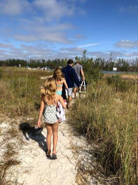 Walking on Keewaydin Island in Florida