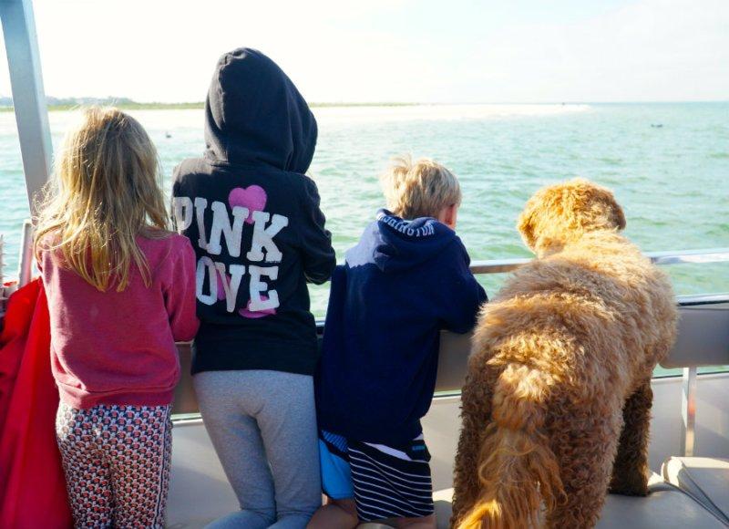 Boat ride on the Hemingway shuttle to Keewaydin Island in Florida.