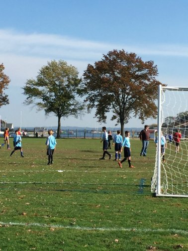 Sprots games taking place at Harbor Island Park in Mamaroneck