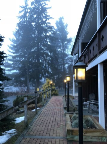 Early morning at the Swiss Hutte in the Berkshires