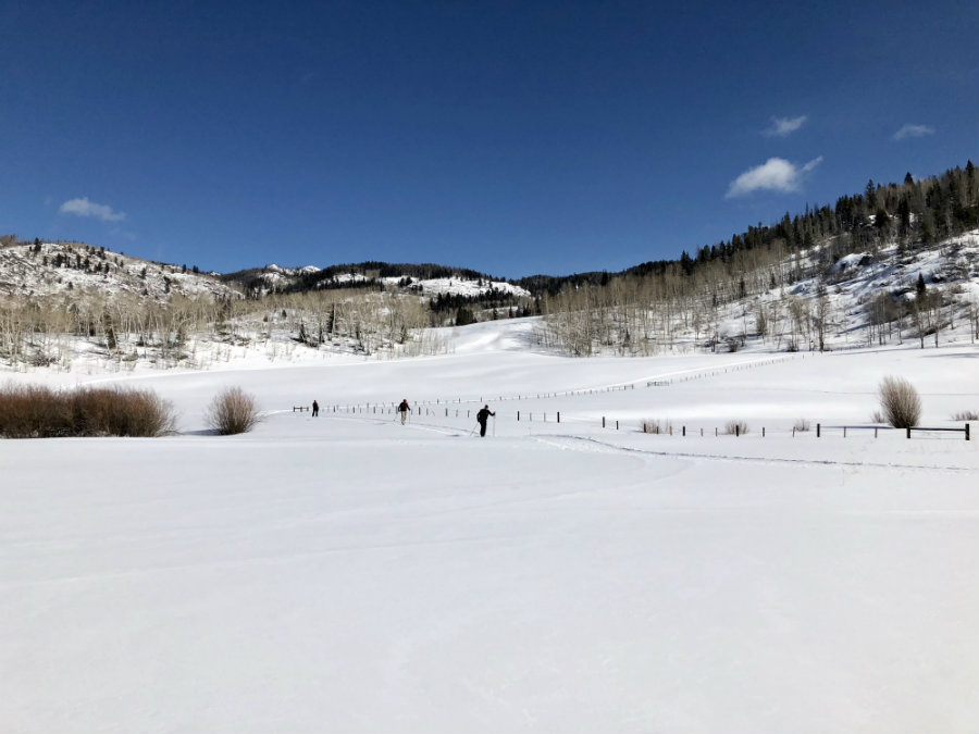 Cross country skiing in the Yampa Valley near Steamboat Springs