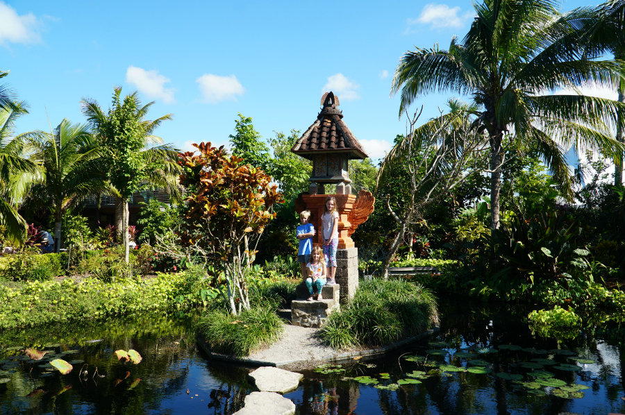 Naples Botanical Garden with kids