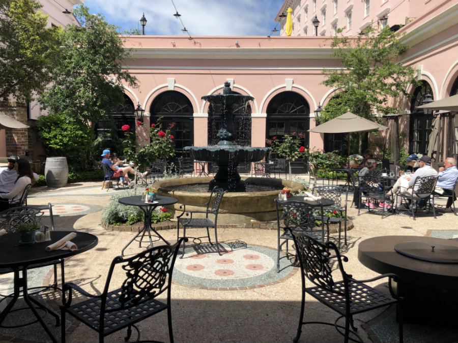 Brunching at the Barbados Room and terrace on a Charleston Getaway