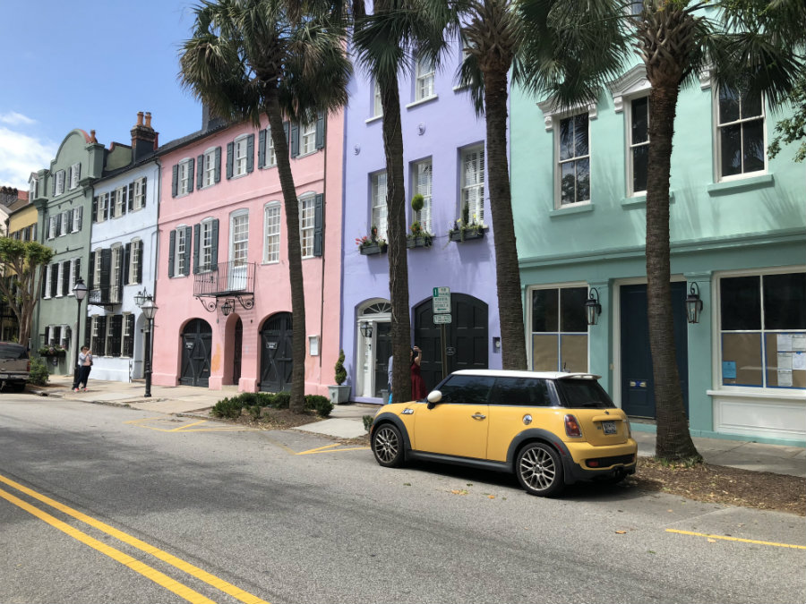 Rainbow Row is a popular site to visit on a Charleston Getaway