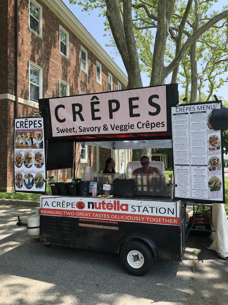 Crepes food truck is one of the many great foods on Governors Island in New York