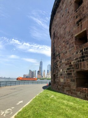 Exploring Castle Williams on Governors Island in New York