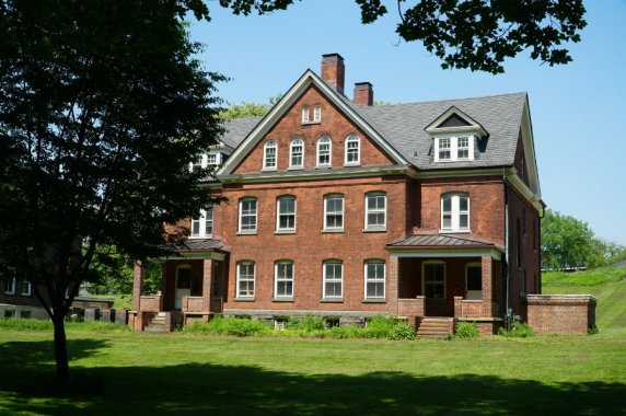 Exploring the historical buildings of Governors Island in New York