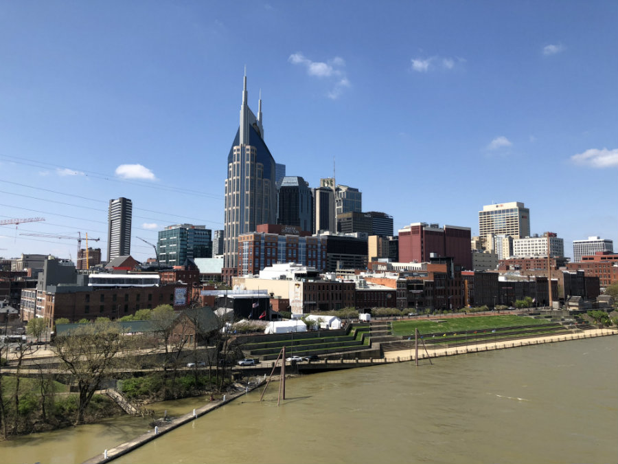 Nashville skyline from Cumberland River