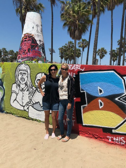 Venice Beach with Kids, HilaryStyle and me