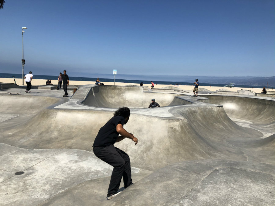 Venice Beach with kids, Venice Skate Park