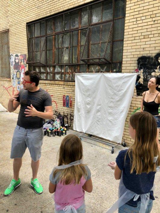 Brooklyn graffiti workshop with Brooklyn Unplugged tours