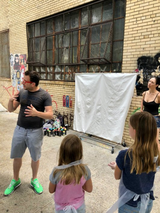 Brooklyn graffiti workshop with Brooklyn Unplugged tours