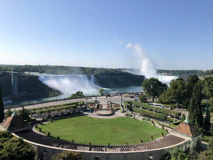 View of Niagara Falls from the Sheraton on the Falls in Canada