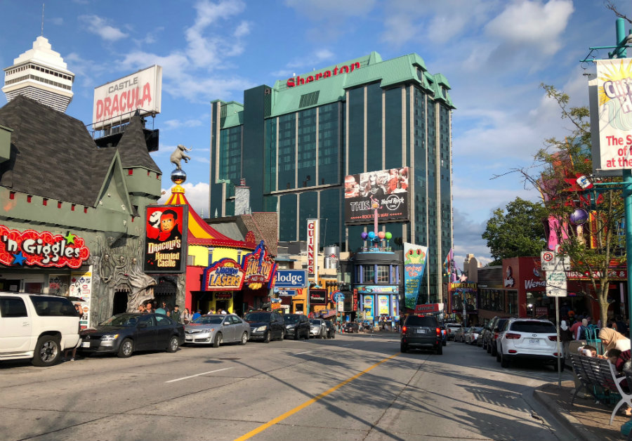 Clifton Hill at Niagara Falls in Ontario