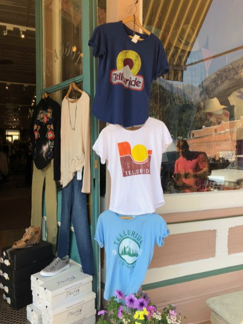 Walking and shopping in Telluride CO