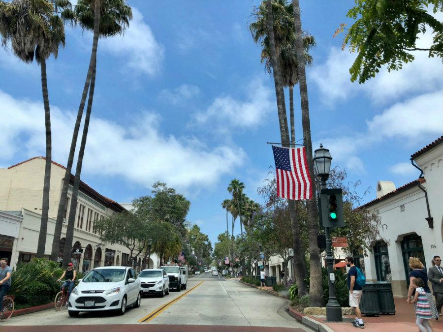 Strolling State Street in Santa Barbara