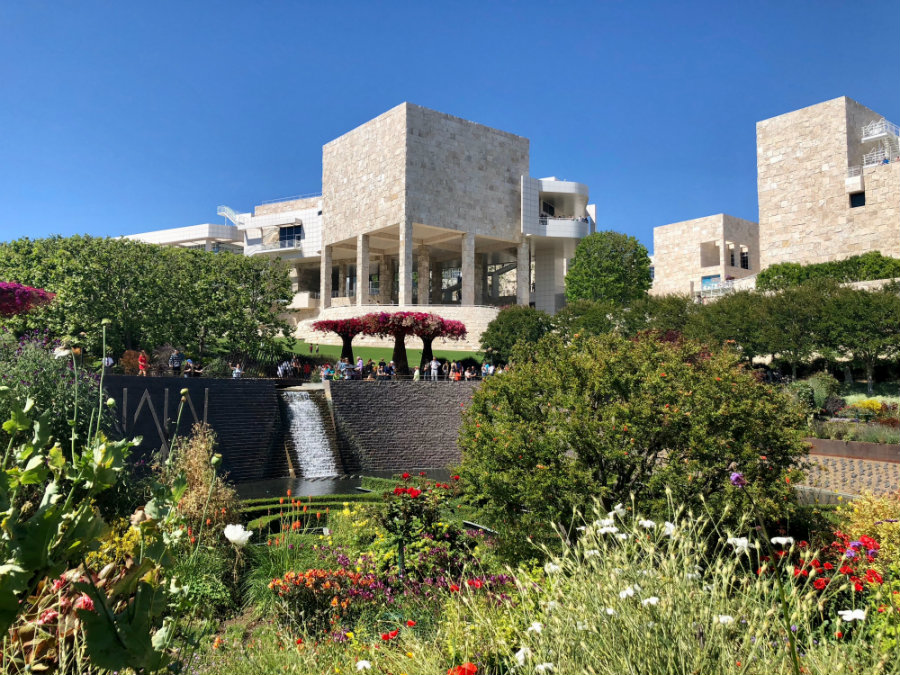 The gardens at the Getty Center