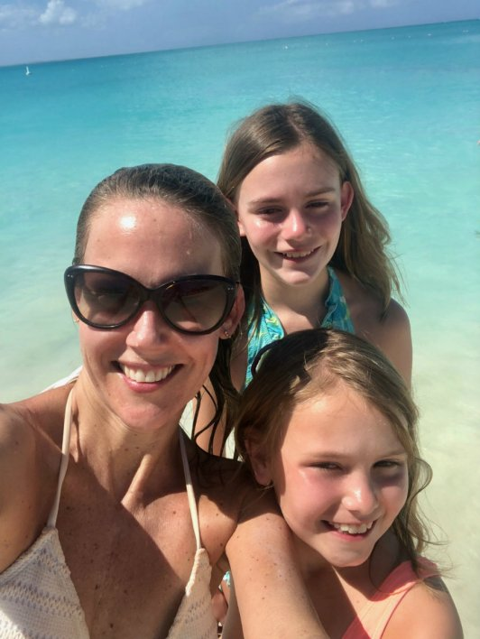 Swimming in Grace Bay at Turks and Caicos