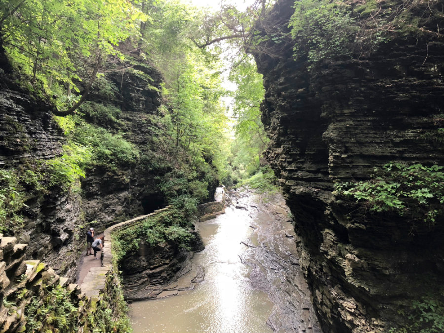 Hiking through Watkins Glen State Park