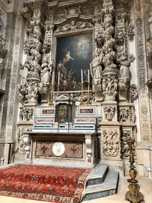 Inside the Basilica di Santa Croce in Lecce, Puglia