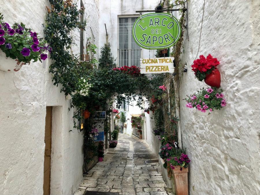 Walking the streets of Ostuni Puglia