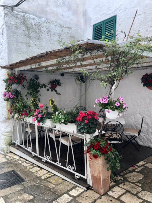 Adorable restaurant in Ostuni Italy!