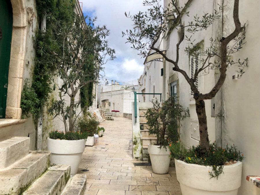 Street life in Ostuni Puglia