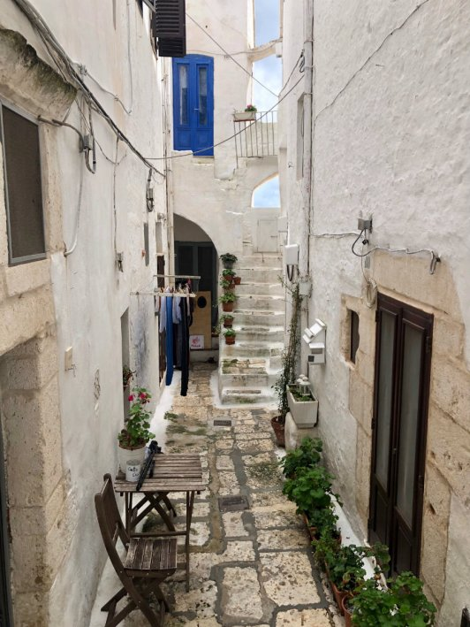 Adorable courtyard to someone's home in Ostuni Italy