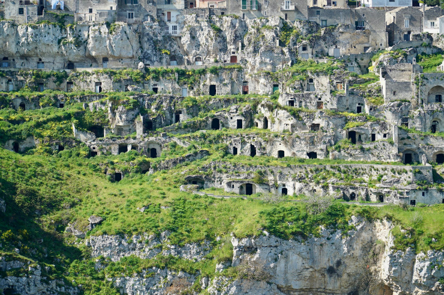 The caves of Matera Italy